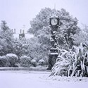 Brockwell Clock in Snowstorm, 2008. Print Status: printed and in stock.  To order a print please contact info@maxarush.com