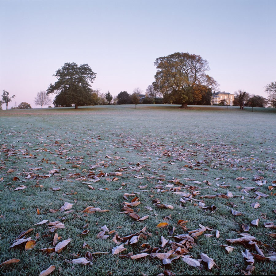 "Brockwell Hall on a Clear Frosty Morning, 2008. Framed Print, 14.5"" sq in 50cm sq black aluminium frame. £125"