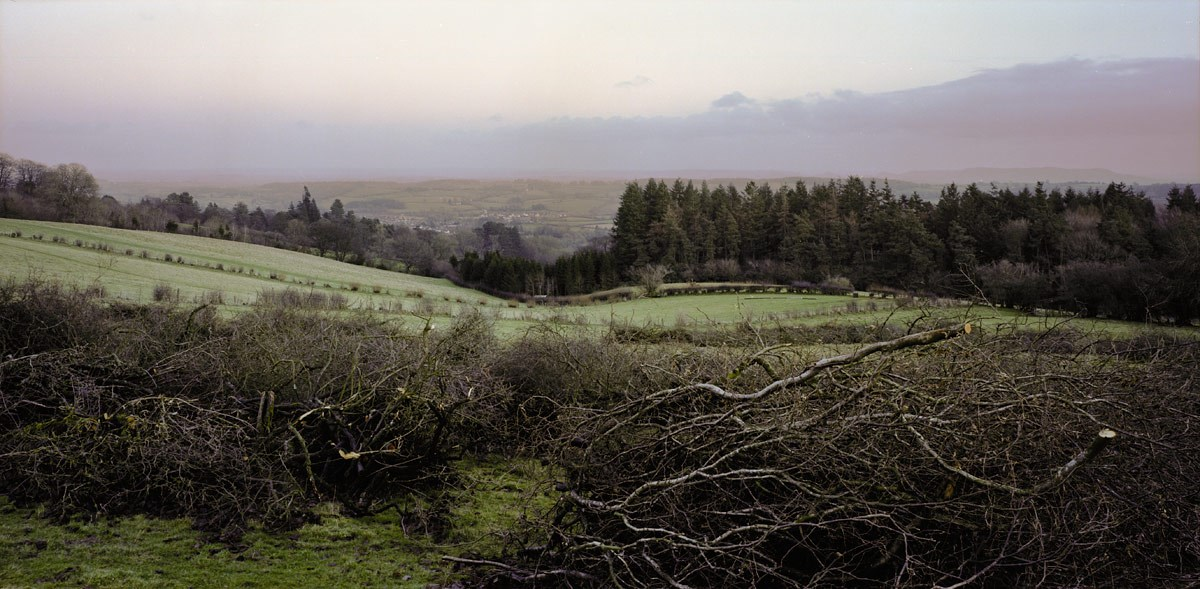 Stick Piles and View to Kington, 2013. Print Status: not yet printed. To order a print please contact info@maxarush.com
