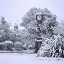 Brockwell Clock in Snowstorm, Brockwell Park, 2008
