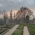 March Sunset over the Sunken Garden