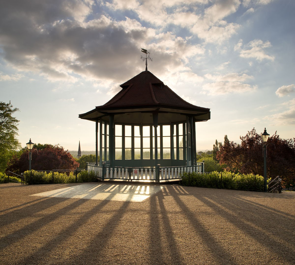 Spring Sunset, The Bandstand
