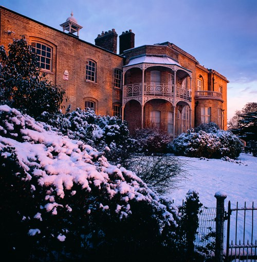 Brockwell Hall in Winter. December 2009