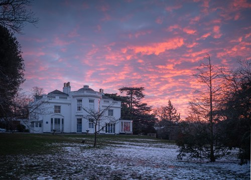 Winter Dawn, The White House, Norwood Grove. February 2021